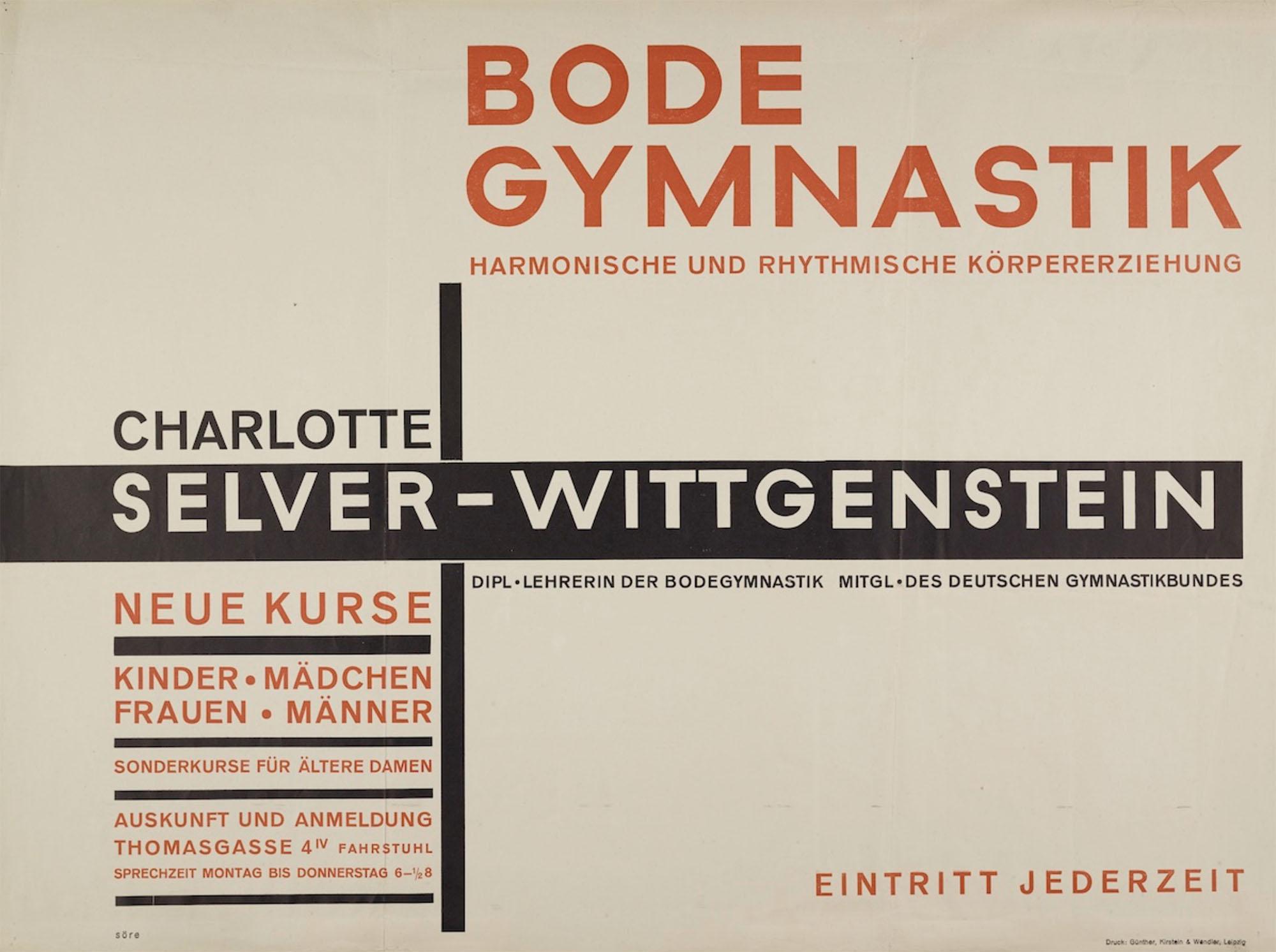 Söre Popitz poster design 1930 Bauhaus Dessau Foundation
